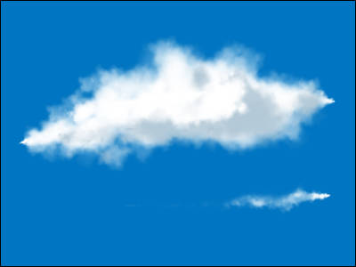 雲にじみサンプル