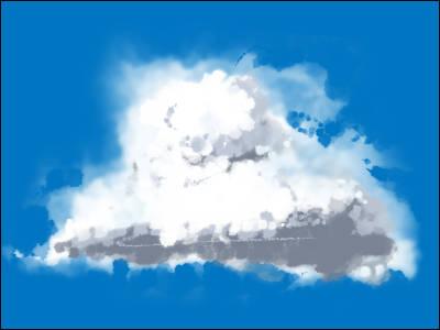 雲ブラシサンプル