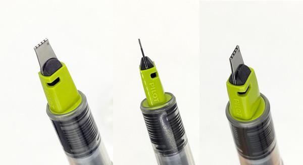 パラレルペン3.8mmペン先のアップ