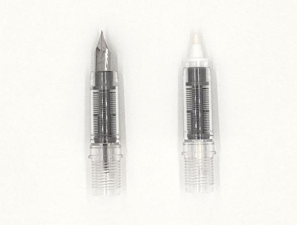 プレピー万年筆とマーキングペンの比較1
