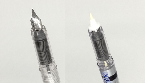プレピー万年筆とマーキングペンの比較2